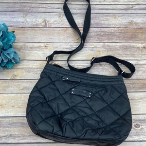 Vera Bradley solid black quilted crossbody bag